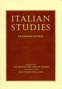 Italian Studies Robert Gordon